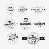 Grupo de emblemas do vintage Fotografia de Stock Royalty Free