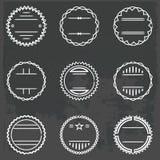 Grupo de emblemas e de crachás Fotografia de Stock