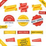 Grupo de emblemas e de etiquetas do vetor Imagens de Stock