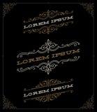 Grupo de emblemas elegantes do ornamental do vintage Fotos de Stock Royalty Free