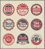 Grupo de emblemas retros Fotos de Stock Royalty Free