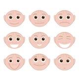 Grupo de emoções Fotografia de Stock