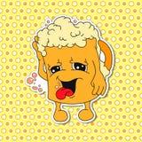 Grupo de emoções da caneca dos desenhos animados (copo) Imagens de Stock Royalty Free