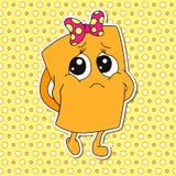 Grupo de emoções da caneca dos desenhos animados (copo) Fotografia de Stock