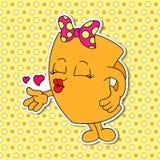 Grupo de emoções da caneca dos desenhos animados (copo) Fotografia de Stock Royalty Free