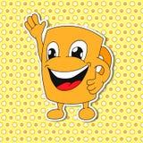 Grupo de emoções da caneca dos desenhos animados (copo) Fotos de Stock Royalty Free