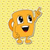 Grupo de emoções da caneca dos desenhos animados (copo) Imagem de Stock