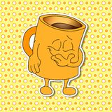 Grupo de emoções da caneca dos desenhos animados (copo) Fotos de Stock