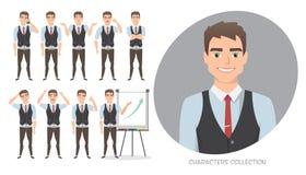 Grupo de emoções para o homem de negócio Fotografia de Stock Royalty Free