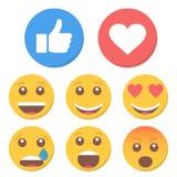Grupo de emoticons e como Ilustração do vetor Foto de Stock Royalty Free