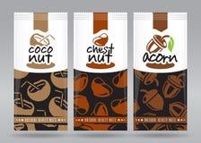 Grupo de empacotamento Nuts 5 Imagens de Stock Royalty Free