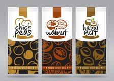 Grupo de empacotamento Nuts 4 Imagens de Stock Royalty Free