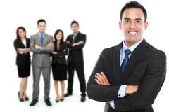 Grupo de empresário novo asiático Imagens de Stock