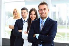Grupo de empresários amigáveis Imagens de Stock Royalty Free