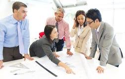 Grupo de encontro dos povos do arquiteto Imagem de Stock Royalty Free