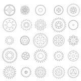 Grupo de engrenagens lineares Imagem de Stock Royalty Free