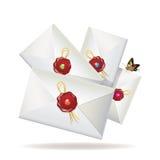 Grupo de envelopes Foto de Stock