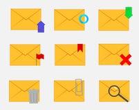 Grupo de envelopes fechados com funções ilustração royalty free