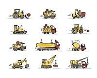 Grupo de equipamento de construção para seu projeto Fotografia de Stock