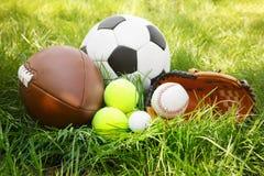 Grupo de equipamento de esporte imagem de stock royalty free
