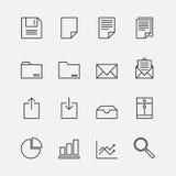 Grupo de esboço dos ícones do negócio Fotos de Stock