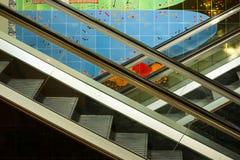 Grupo de escadas rolantes Imagem de Stock