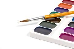 Grupo de escova da pintura Fotos de Stock