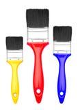 Grupo de escova de pintura Imagens de Stock Royalty Free