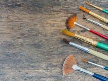 Grupo de escova de pintura Fotos de Stock Royalty Free