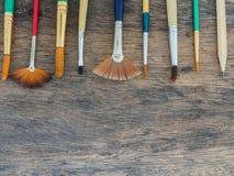 Grupo de escova de pintura Foto de Stock