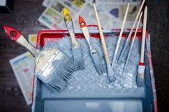 Grupo de escova de pintura Foto de Stock Royalty Free