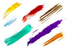 Grupo de escovas da aguarela Imagem de Stock Royalty Free
