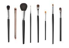 Grupo de escovas da composição, isolado no branco Foto de Stock Royalty Free