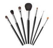 Grupo de escovas da composição, isolado no branco Imagens de Stock