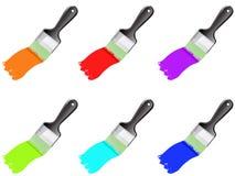 Grupo de escovas da cor Fotografia de Stock