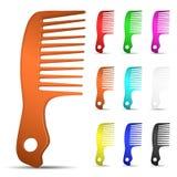Grupo de escovas de cabelo coloridos ilustração royalty free