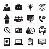 Grupo de escritório para negócios do ícone Imagem de Stock Royalty Free