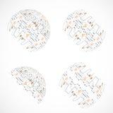 Grupo de esferas abstratas da tecnologia Fotografia de Stock Royalty Free