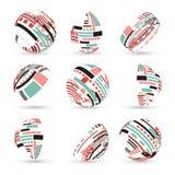 Grupo de esferas abstratas do vetor Fotos de Stock Royalty Free