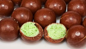 Grupo de esferas do chocolate Fotografia de Stock Royalty Free
