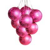 Grupo de esferas do Natal Imagem de Stock Royalty Free