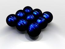 Grupo de esferas negras Imagenes de archivo