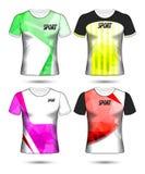 Grupo de estilo do t-shirt do molde do jérsei do futebol ou do futebol, projeto Imagens de Stock Royalty Free