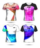 Grupo de estilo do t-shirt do molde do jérsei do futebol ou do futebol, projeto Foto de Stock