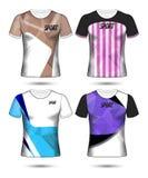 Grupo de estilo do t-shirt do molde do jérsei do futebol ou do futebol, projeto Fotos de Stock