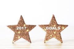 Grupo de estrelas douradas de brilho textured Foto de Stock
