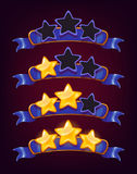 Grupo de estrelas e de fitas coloridas Foto de Stock Royalty Free