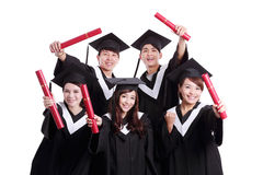 Grupo de estudante de graduados feliz Fotografia de Stock Royalty Free
