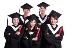 Grupo de estudante de graduados feliz Foto de Stock Royalty Free