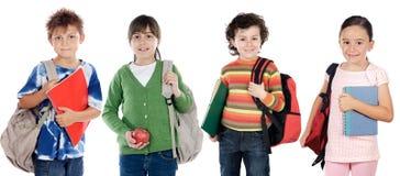 Grupo de estudantes das crianças Imagens de Stock Royalty Free